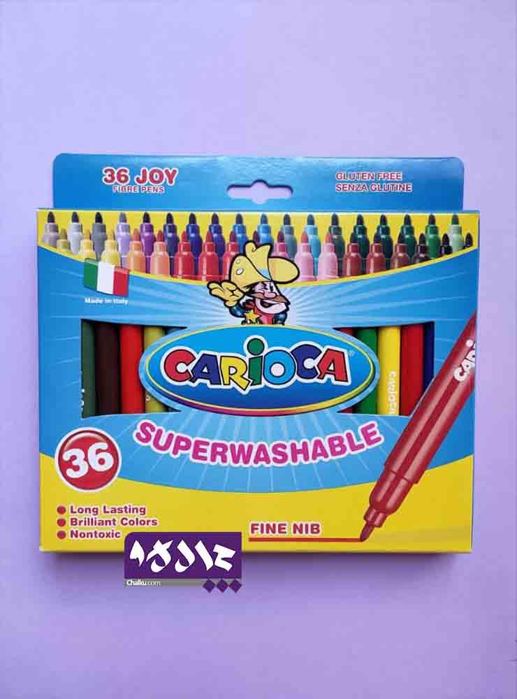 ماژیک رنگ آمیزی برند کاریوکا 36 رنگ