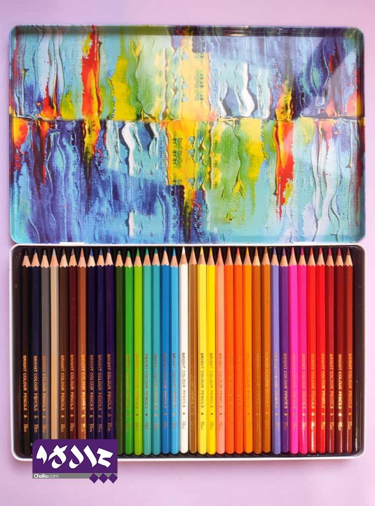 مداد رنگی 36 رنگ Rico جعبه فلزی