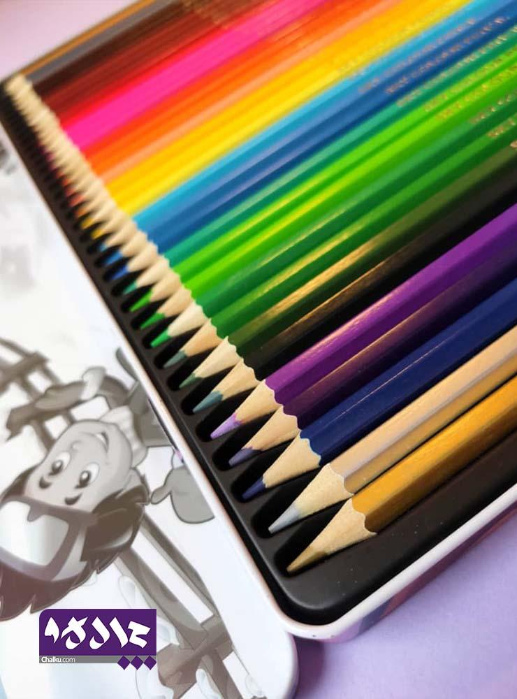 مدادرنگی ۳۶ رنگ Sky جعبه فلزی
