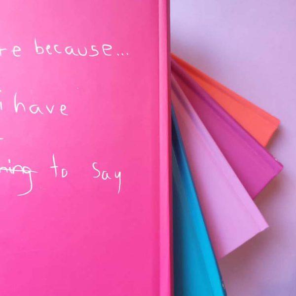 دفتر فانتزی جلد رنگی I Write Because