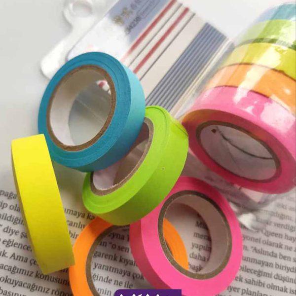 پک چسب رنگی کاغذی