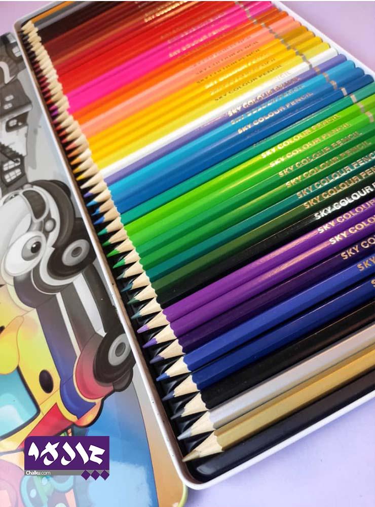 مدادرنگی 48 رنگ (اسکای) Sky جعبه فلزی