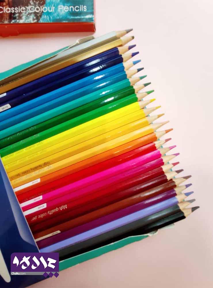 مداد رنگی ۲۴ عددی روبیکس