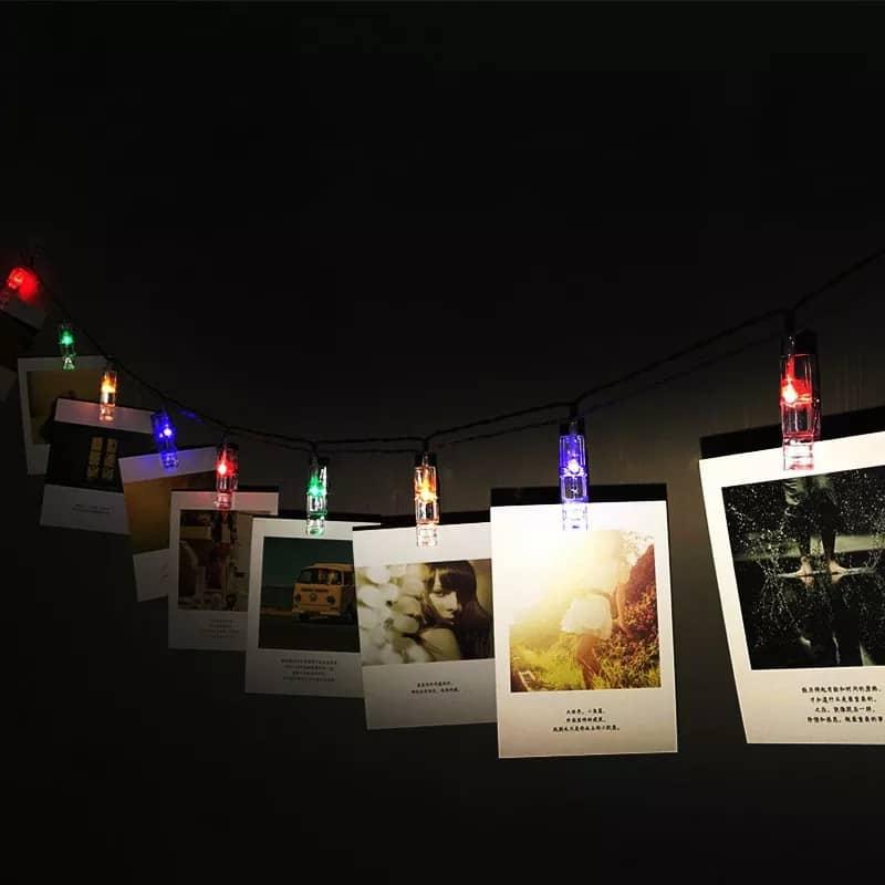 ریسه گیره عکس با نور مولتی کالر