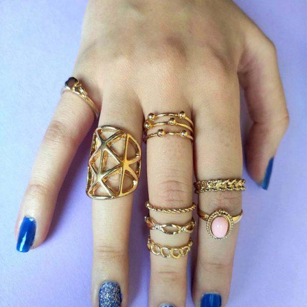 انگشتر ظریف طلایی