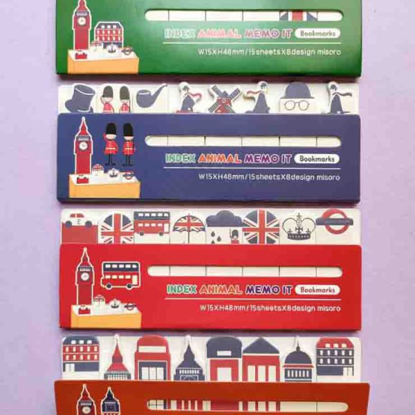 استیک نت و بوک مارک طرح لندن