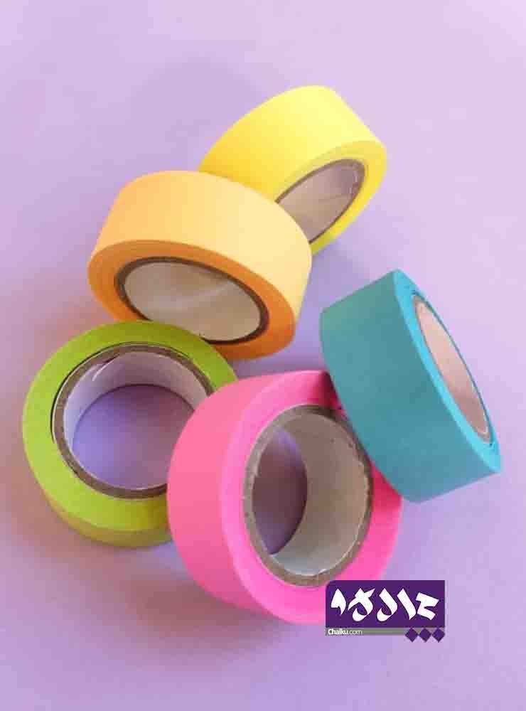پک چسب کاغذی رنگی