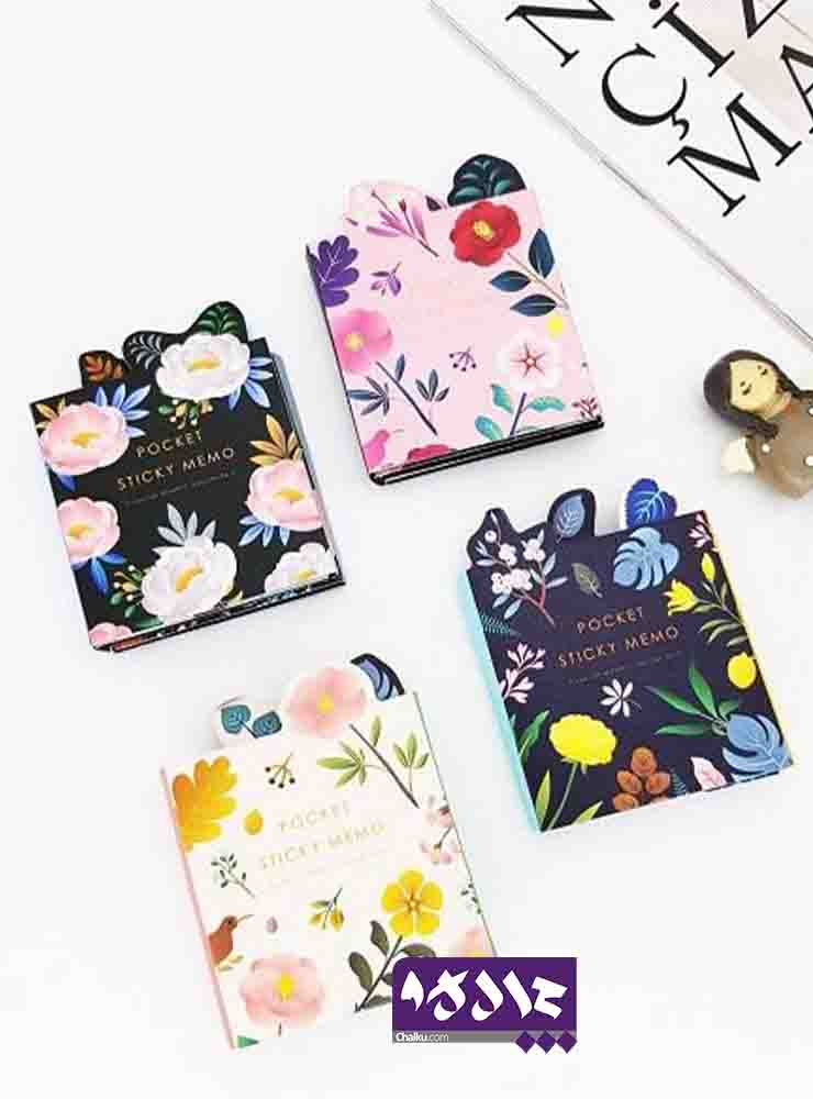ست استیک نت دفترچه ای طرح گل
