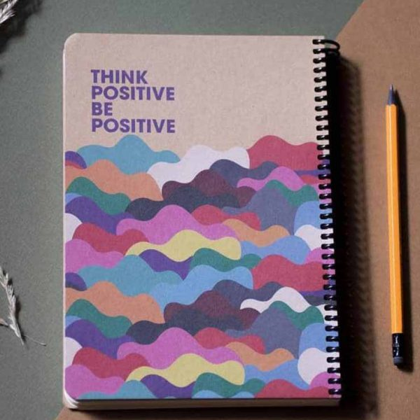 دفتر جلد كرافت كاغذ كرم