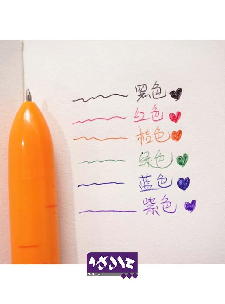 خودکار 6 رنگ طرح هویج