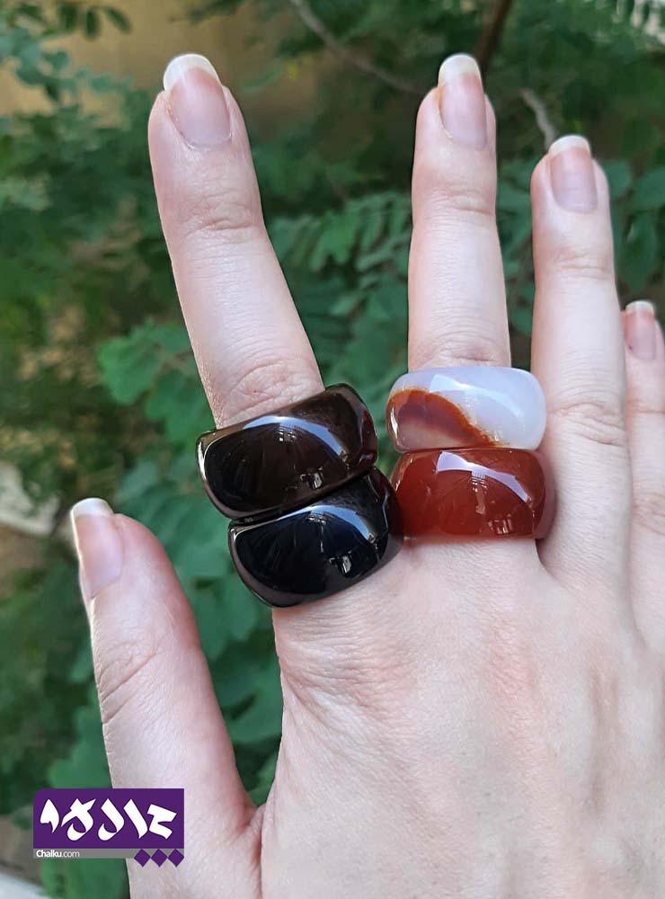 انگشتر سنگ مشکی