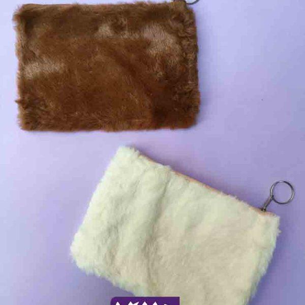 کیف کوچک خز دار